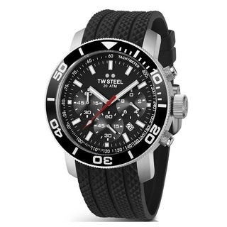 TW Steel Men's 'Grandeur Diver' Stainless Steel Chronograph and Tachymeter TW701 Watch