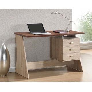 Baxton Studio Parallax Sonoma Oak Finishing Modern Writing Desk