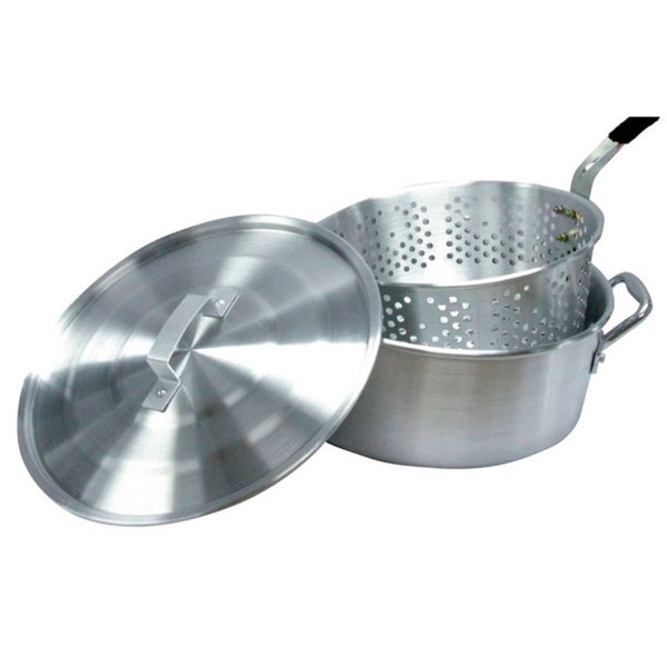 Smart Cook 10 Quart Aluminum Fry Pot With Basket And Lid
