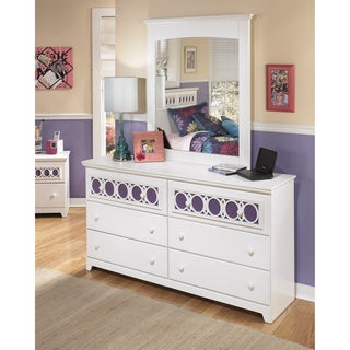 Signature Design by Ashley Zayley White Dresser and Mirror