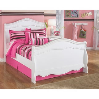 Signature Design by Ashley Exquisite White Youth Sleigh Bed