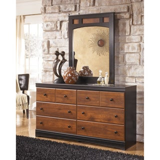 Signature Design by Ashley Aimwell Dark Brown Dresser and Mirror
