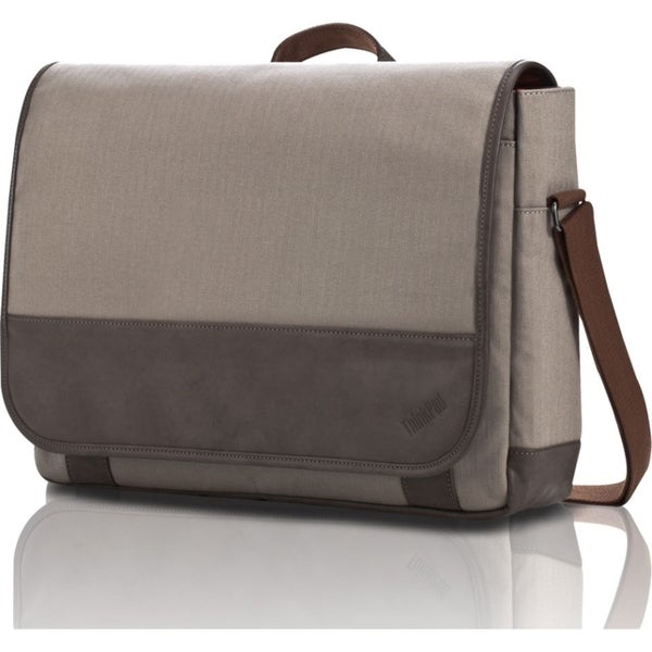 "Lenovo Casual Carrying Case (Messenger) for 15.6"", Notebook - Beige,"