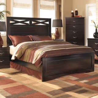 Signature Design by Ashley X-cess Queen-size Merlot Panel Bed