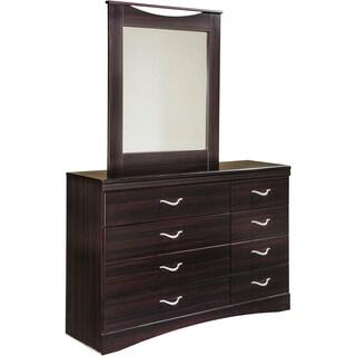 Signature Design by Ashley Zanbury Merlot 2-piece Dresser and Mirror