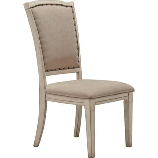 Signature Design by Ashley Demarlos Parchment White Upholstered Side Chair (Set of 2)