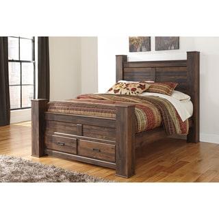 Signature Design by Ashley Quinden Dark Brown Queen-size Storage Bed