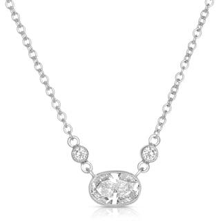Eloquence 18k White Gold 5/8ct TDW White Diamond Necklace (H-I, SI1-SI2)