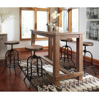 Signature Design by Ashley Pinnadel 5-piece Bar Set with Tall Swivel Barstools