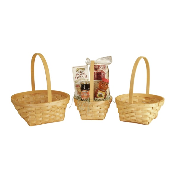 Woodchip Baskets (Set of 3)
