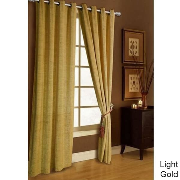 Chenille Grommet-top Curtain Panel
