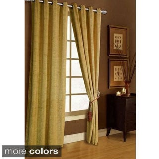 Chenille Grommet-top Curtain Panel