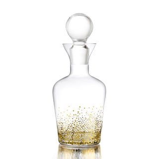 Fitz & Floyd Gold Luster Glass Decanter