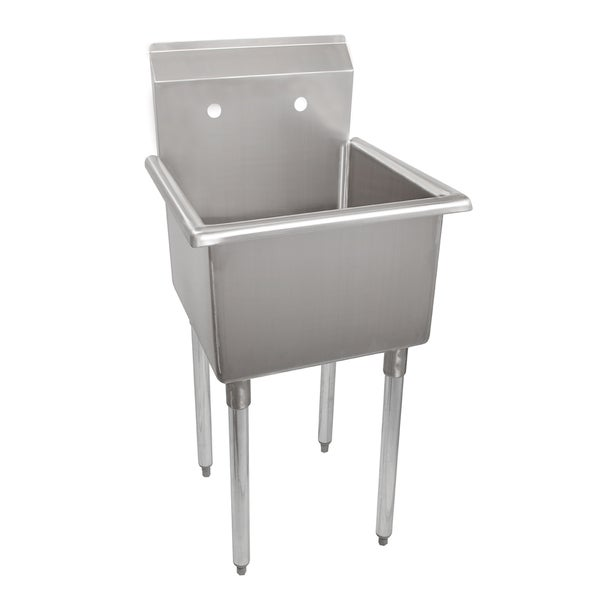 Utility Sink Accessories : Polaris Sinks PS1232 90 Deg. Rectangular Stainless Steel Utility Sink
