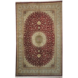Hand-knotted Persian Qum 600 Kpsi Signed Pure Silk (6' x 10')