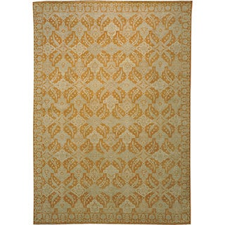 Silver Wash 100-percent Wool Peshawar Hand-knotted Oriental Rug (10' x 14')