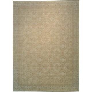 Khotan Design Peshawar Wool Oversize Hand-knotted Area Rug (13' x 18')