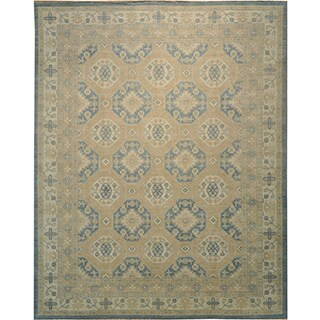 Khotan 100-percent Wool Oversize Silver Wash Hand-knotted Area Rug (12' x 15')