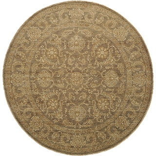 100-percent Wool Peshawar Washed-out Hand-knotted Area Rug (8' x 8')