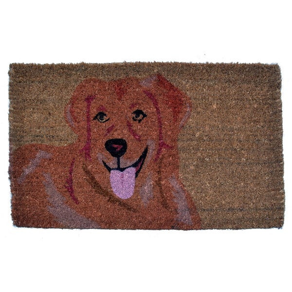 Golden Retriever Coir Doormat