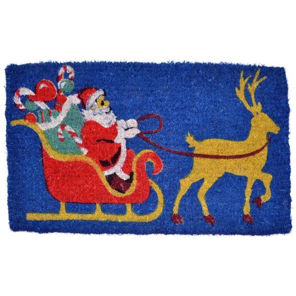 Santa Claus Coir Doormat