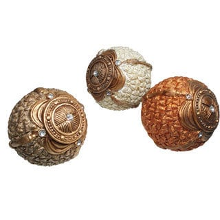 D'Lusso Designs Earth-toned Decorative Orbs (Set of 3)