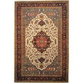 review detail Hand-knotted Ivory Oversize Serapi Heriz 100-percent Wool Area Rug (12' x 18')