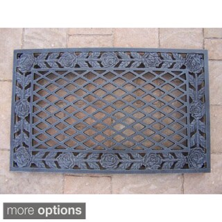 Fleur Di Lys Step Mat Recycled Rubber Doormat Set Of