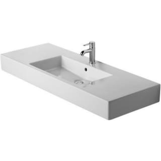 Duravit Furniture 49.25-inch Vero White 3-tap Hole Washbasin with Overflow
