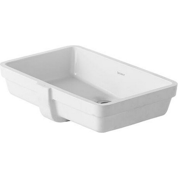 Duravit 19.125-inch Vero White Undercounter Basin with Overflow