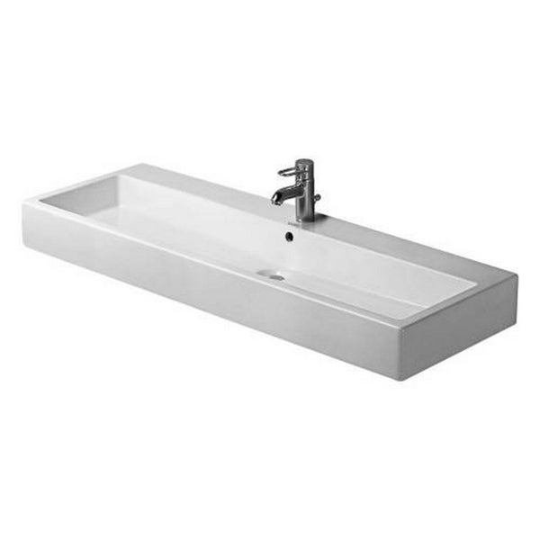 Duravit 47.25-inch Vero White 1 Tap Hole Washbasin