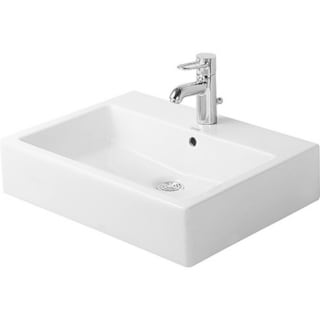 Duravit 23.625-inch Vero White Washbasin with Overflow and 3 Tap Holes