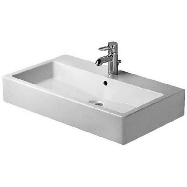 Duravit 31.5-inch Vero White 3 Tap Hole WGL Washbasin