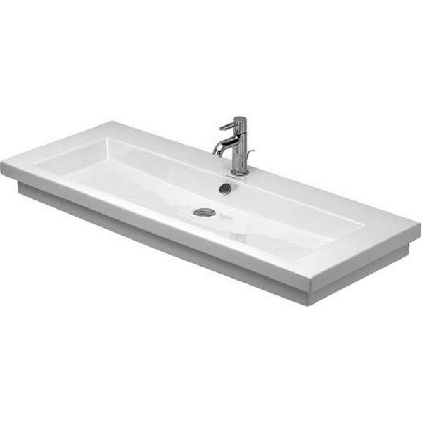 Duravit 47.25-inch White Tap Panel WGL Wash Basin