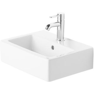Duravit Vero White 17.75-inch Handrinse Basin with Overflow