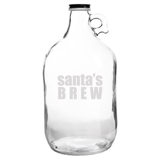 Santa's Brew Glass Growler
