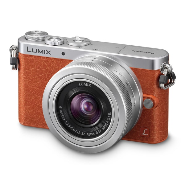 Panasonic Lumix DMC-GM1 Mirrorless Micro Four Thirds Orange Digital Camera with 12-32mm Lens