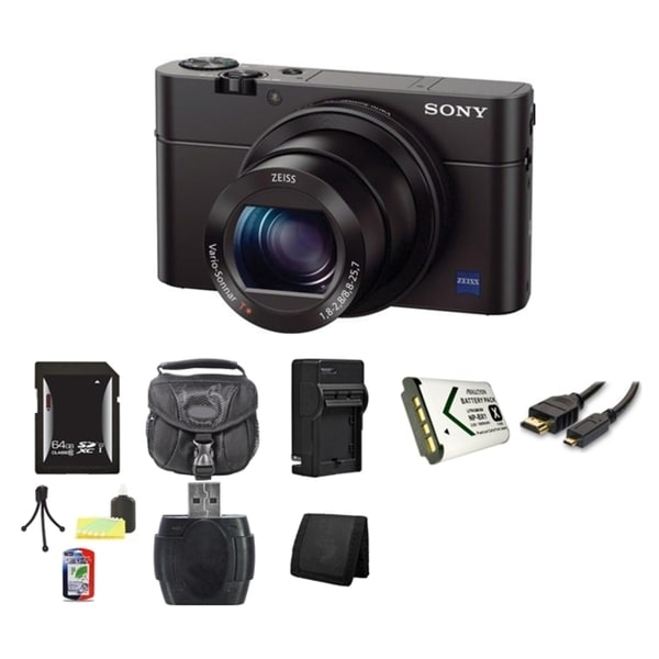 Sony Cyber-shot DSC-RX100 III Digital Camera 64GB Bundle