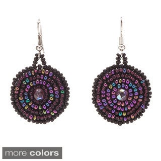Hand-beaded Swirl Earrings (Guatemala)