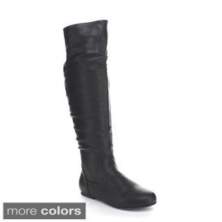 Top Moda Pad-16 Women's Over-the-Knee High Stiching Riding Boots
