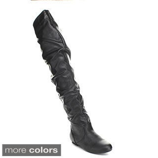 Top Moda JL-21 Women's Over-the-Knee High Slouchy Boots