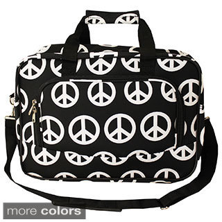 World Traveler Peace Sign 15-inch Lightweight Carry-On Shoulder Tote Duffle Bag