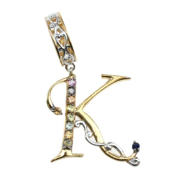 Michael Valitutti Multi Sapphire Alphabet Charm