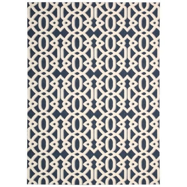 Rug Squared Milford Blue Rug (5' x 7')