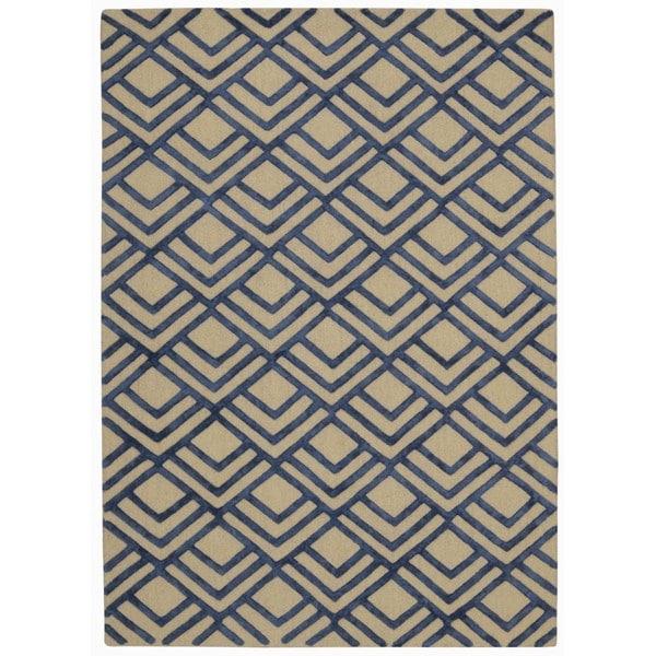 Rug Squared Saratoga Ivory/Navy Rug (8'x10')