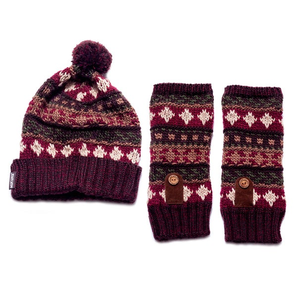 Muk Luks Traditional Arm warmer/ Cuff Cap Set