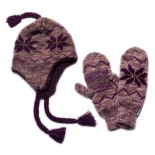 Muk Luks Snowflake Helmet and Mittens Set
