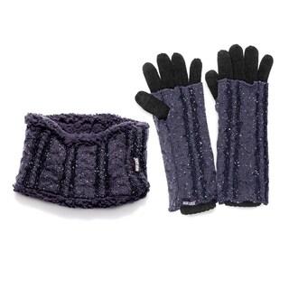 Muk Luks Sprinkled Headband/ Glove Set