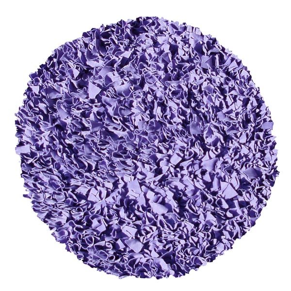 Shaggy Raggy Purple Area Rug (4' Round)