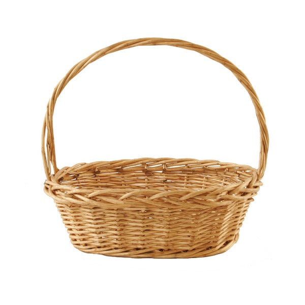 Wald Imports Oval Thick Willow Basket   Inch Free Shipping On
